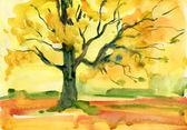 Autumn tree background — Stock Photo