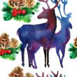 Watercolor deer  — Stock Photo