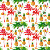 Tropical seamless background. watercolor — Stock Photo