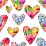 Valentine day with ornate hearts — Φωτογραφία Αρχείου