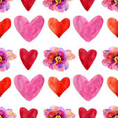 Hearts and flowers — Stock Photo