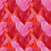 Vattenfärg hjärtmönster. — Stockfoto