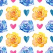 Yellow and Blue Roses — Stock Photo #39114061