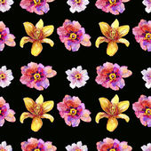 Wallpaper with flowers. — Stock Photo