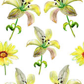 Beautiful flowers, watercolor illustration — Stock Photo