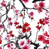 Realistic sakura blossom — Stock Photo