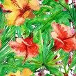 Floral seamless wallpaper. — Stock Photo