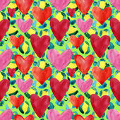 Seamless abstract hearts — Stock Photo