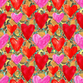 Seamless abstract hearts texture — Stock Photo