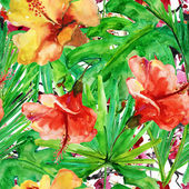 Floral seamless wallpaper. — Stock Photo