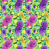 Pink, Purple, Yellow flowers — Stock Photo