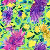 ροζ, μοβ, κίτρινο λουλούδια — Φωτογραφία Αρχείου