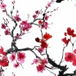 Decorative cherry blossoms — Stock Photo