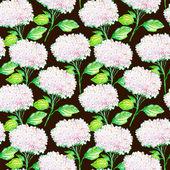 Seamless pattern with white hydrangea flowers — Foto Stock