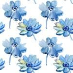 Seamless pattern with Beautiful Blue flowers — Stock Photo
