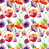 Stylized Tulips and Poppy flowers — Stock Photo