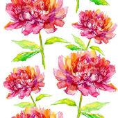 Seamless mönster med pion blommor — Stockfoto