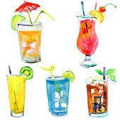 Alcohol coctails — Stock Photo