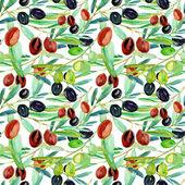 Olive seamless pattern — Stock Photo