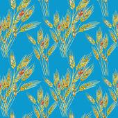 Rye Seamless Pattern — Stock Photo