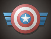 Captain America Shield — Stock Vector