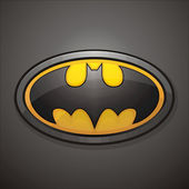 Batmans logotype symbol — Stock Photo