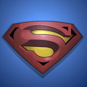 The Superman - Logo Symbol — Stock Photo