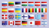 Flags of Countries — Stock Vector