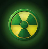 Hulk Radioactive Icon Logo — Stock Vector