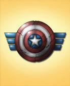 Shield of Captain America — Stock Photo
