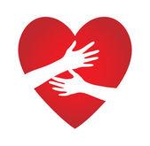 Ruce srdce — Stock vektor