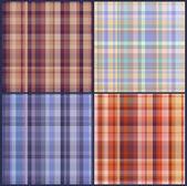 Four checkered seamless texture — Stock Vector