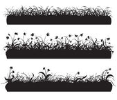 Silhouette of grass — Stock Vector