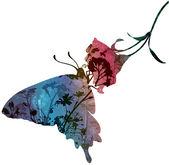 Butterfly on flower — Wektor stockowy