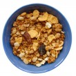 Stock Photo: Muesli in blue bowl.