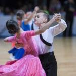 Juvenile-1 Standard program on World Open Minsk 2013 Championship — Stock Photo