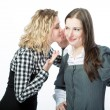 Sweet rumors between two girlfriends — Stock Photo #26766543
