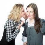 Sweet rumors between two girlfriends — Stock Photo