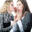 Sweet rumors between two girlfriends — Stock Photo