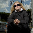 Stock Photo: Serious blond female sailor