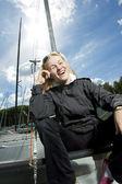 Happy sailor — Stock Photo