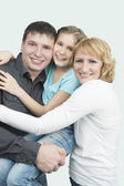 Smiling trio — Stock Photo