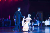 World Champions on wheelchair dance sport perform standard program on Minsk-Open Cup — Stock Photo