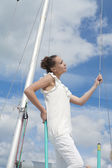 Sensual sailor — Stock Photo
