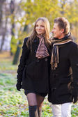 Nice stroll in the park — Stock Photo