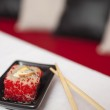One sushi meal put on small plate — Stock Photo #26771569