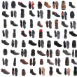 88 pairs of male footwear over white background — Stock Photo #26771885