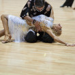 MINSK-BELARUS, MAY, 18: Unidentified Dance couple performs ADULT — Stockfoto