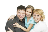 Happy relatoinships in family — Stock Photo