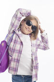 Portrait of a little girl weating sunglasses — Stock Photo